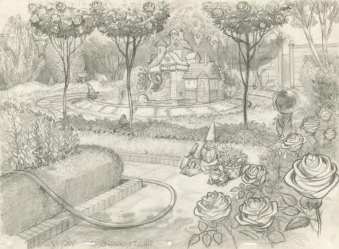 Gnomeo and Juliet Concept Drawing - ID: jungnomeo21416 Rocket Pictures