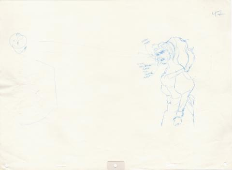 Hunchback of Notre Dame Production Drawing  - ID: junhunchback20148 Walt Disney