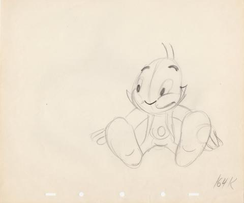 1960s Jiminy Cricket Production Drawing  - ID: junjiminy20122 Walt Disney