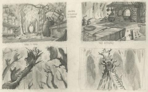 Rock-A-Doodle Concept Drawing - ID: junrock21456 Don Bluth
