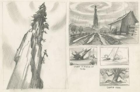 Rock-A-Doodle Concept Drawing - ID: junrock21457 Don Bluth