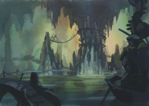 A Troll in Central Park Concept Painting - ID: juntroll21403 Don Bluth