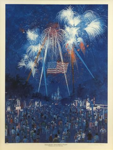 Disneyland's Most Glorious Fourth Charles Boyer Signed Limited Print - ID: marboyer21034 Disneyana