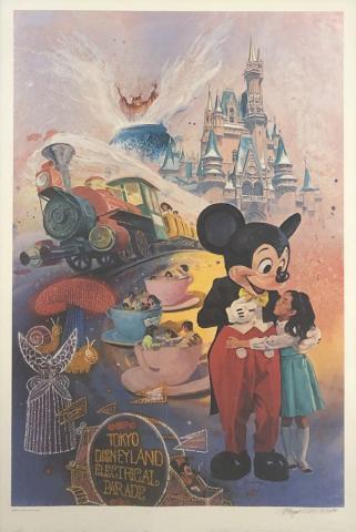 Tokyo Disneyland 5th Anniversary Print by Charles Boyer - ID: marboyer21035 Disneyana