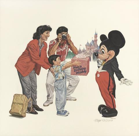Happy Birthday Mickey Charles Boyer Signed Limited Print - ID: marboyer21036 Disneyana