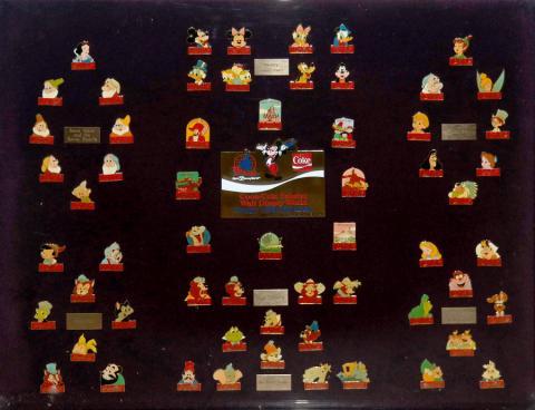 1985 WDW Coca-Cola Anniversary Pin Set - ID: mardisneyana20006 Disneyana