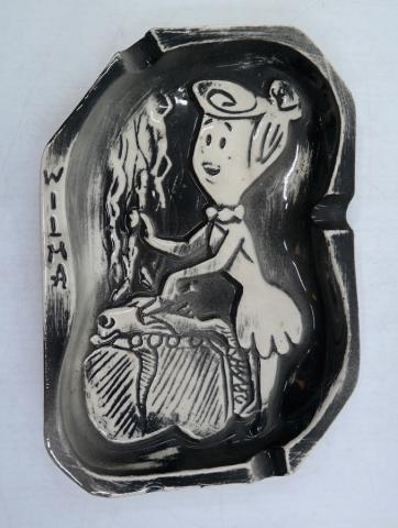 Wilma Flintstone Ashtray - ID: marflintstones21014 Hanna Barbera