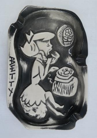 Betty Rubble Ashtray - ID: marflintstones21015 Hanna Barbera
