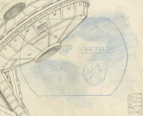 Space Ace Background Layout Drawing - ID: marspaceace21092 Don Bluth