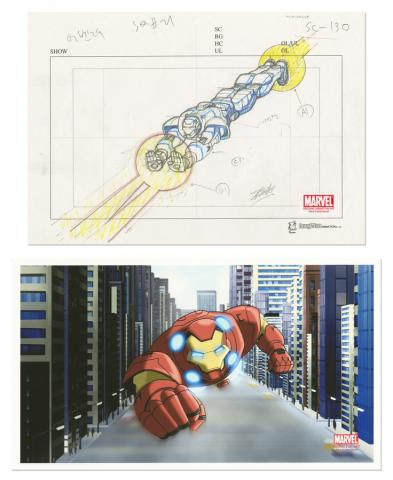 Ultimate Avengers Signed Layout Drawing - ID: mlg100207 Marvel