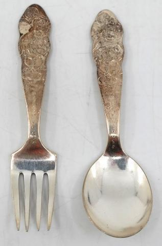 Mickey Fork & Spoon Silverware Set - ID: novdisneyana20002 Disneyana