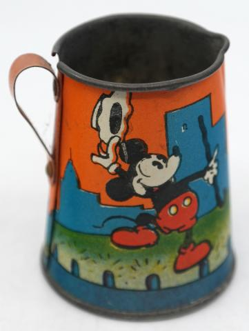Mickey Mouse 1930s Tin Cup - ID: novdisneyana20006 Disneyana