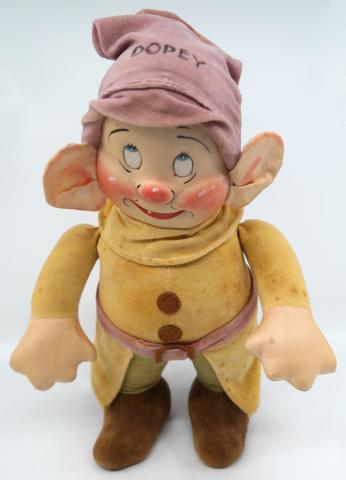 Snow White Dopey 1930s R.G. Krueger Doll - ID: novdisneyana20028 Disneyana