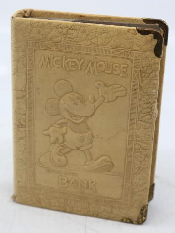 Mickey Mouse 1930s Book Coin Bank - ID: novdisneyana20037 Disneyana