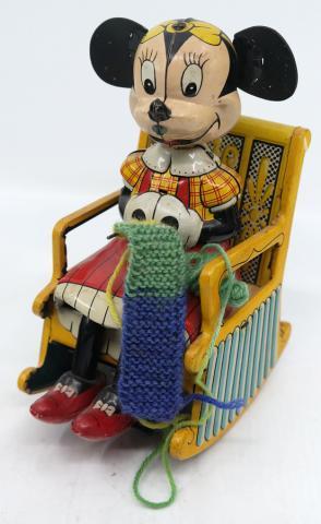 Minnie Mouse Tin Litho Rocking Toy - ID: novdisneyana20049 Disneyana