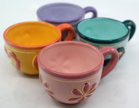 Mad Tea Party Set of (4) Tea Cups - ID: novdisneyana20064 Disneyana