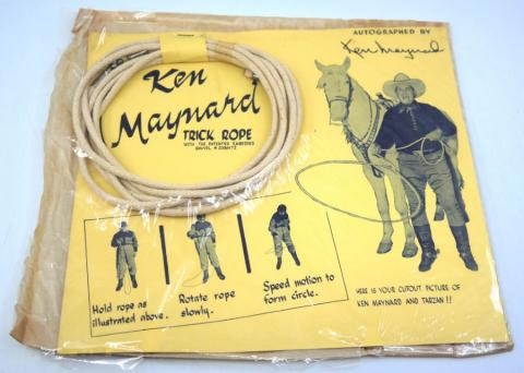 Ken Maynard Vintage Trick Rope Kit  - ID: septoys20341 Pop Culture