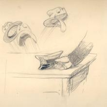 Johnny Fedora And Alice Bluebonnet Production Drawing - ID:0109make10 Walt Disney