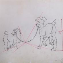 Lady and the Tramp Layout Drawing - ID:disladytramp01 Walt Disney
