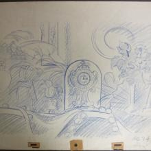 Lady and the Tramp Layout Drawing - ID:dis19 Walt Disney