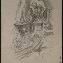 Big Thunder Mountain Original Concept Drawing - ID:mardisneyland2662 Disneyana