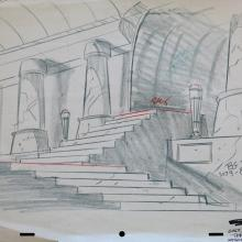1980s Production Background Layout Drawing - ID:marhannalayout3610 Hanna Barbera