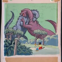 Sourpuss & Gandy Goose Production Cel & Background - ID:marterry3579 Terrytoons