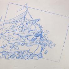 Robin Hood Layout Drawing - ID:robin8363 Walt Disney