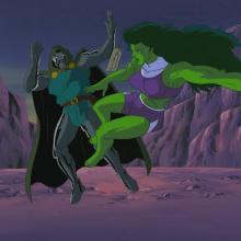 She Hulk and Dr. Doom Cel & Background - ID:dechulk6826 Marvel