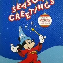 Seasons Greetings Mickey Mouse Imagineering Poster - ID:decmickey4623 Disneyana