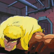 X-Men Production Cel & Background - ID:decxmen6844 Marvel