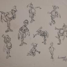 The Black Cauldron Original Concept Drawing - ID: jancauldron2532 Walt Disney