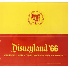 Gate Folder  - 1966 Disneyland - 3 New Attractions Folder - ID: jandisneylandPAF162a Disneyana