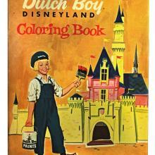 Disneyland Dutch Boy Coloring Book 1957 - ID: jandisneylandSUU019a Disneyana