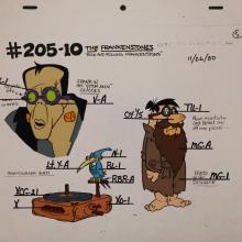 The Flintstones Frankenstones Model Cel - ID: janflintstones2538 Hanna Barbera