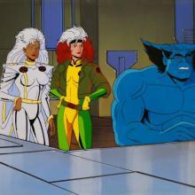 X-Men Production Cel & Background - ID: janxmen2863 Marvel