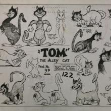 The Alley Cat Model Sheet - ID: maytomjerry7757 MGM