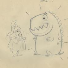 Winsome Witch Layout Drawing - ID: febwinsome9444 Hanna Barbera