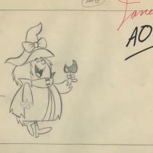 Winsome Witch Layout Drawing - ID: febwinsome9449 Hanna Barbera