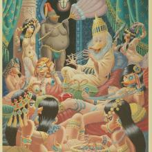 Xerxes and Harem Lithograph - ID: janbarks4993 Walt Disney