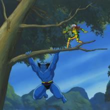 X-Men Cel and Background - ID: octxmen17126 Marvel