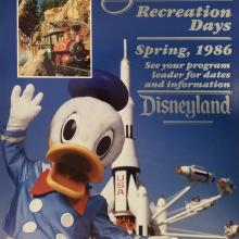 1986 Disneyland Recreation Days Event Poster - ID: aprdisneyland18243 Disneyana