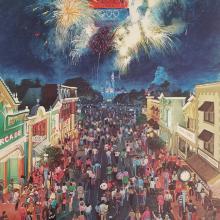 1984 Disneyland Main Street LA Olympics Print - ID: aprdisneyland18429 Disneyana