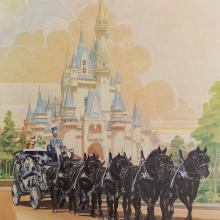 Disneyland Main Street Horse Carriage Test Print - ID: aprdisneyland18810 Disneyana