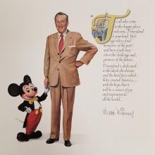 Walt and Mickey Disneyland Quote Print - ID: aprdisneyland18819 Disneyana