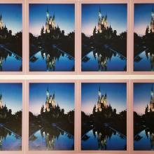Cinderella Castle Poster Color Test - ID: aprdisneyland18833 Disneyana