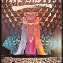 EPCOT We Did It! Employee Poster - ID: aprdisneyland18956 Disneyana