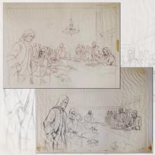 American Adventure Development Drawing - ID: maydisneyland18995 Disneyana