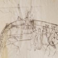 American Adventure Development Drawing - ID: maydisneyland18996 Disneyana