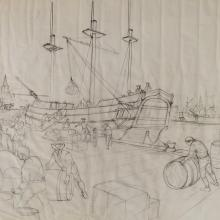 American Adventure Development Drawing - ID: maydisneyland18998 Disneyana
